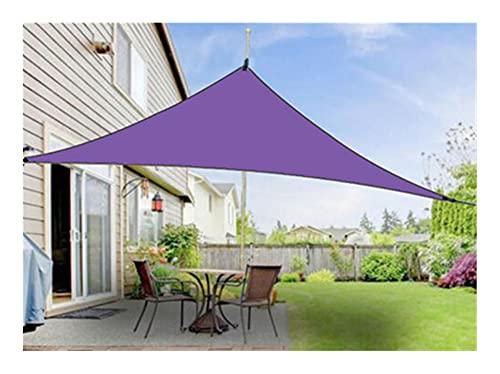 KLZOLR Toldo Vela De Sombra Solar Jardín Patio Triángulo Morado para Pergolas,98% Resistente UV,Tamaño Personalizado (Size : 6x6x6m)