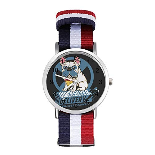 X Men Quicksilver Pizza Dog Reloj de ocio con correa trenzada con escala