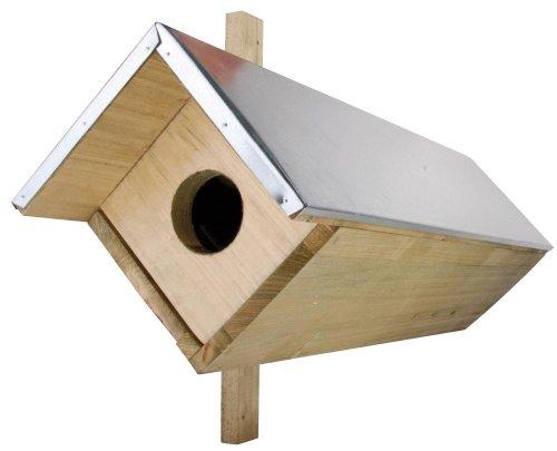 3 Stück Esschert Design Nistkasten, Vogelhaus Steinkauz aus Holz, ca. 81 cm x 31 cm x 52 cm