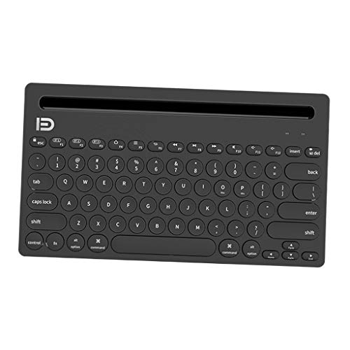 Toygogo Teclado Bluetooth Multidispositivo Recargable para, Tableta, Negro