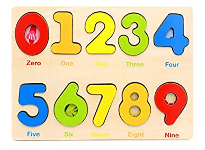 Aile Wooden Preschool Learning Number Puzzles Toys for Kids Age 2-4? Educational Toys