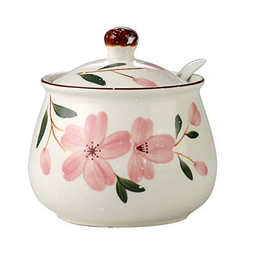 SMEJS Keramik Gewürzglas Haushalt Single Gewürzglas Salzglas Küche liefert , Sauce Paprika Topf