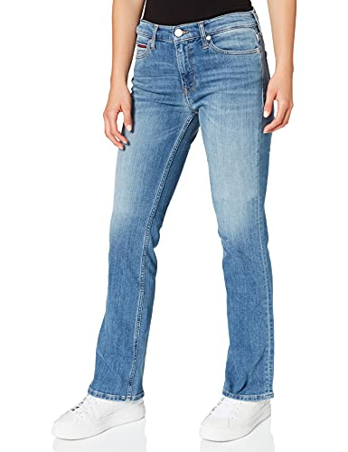 Tommy Jeans Maddie Mr Bootcut CLMC Jeans, Canal MB COM, W25 / L30 Femme