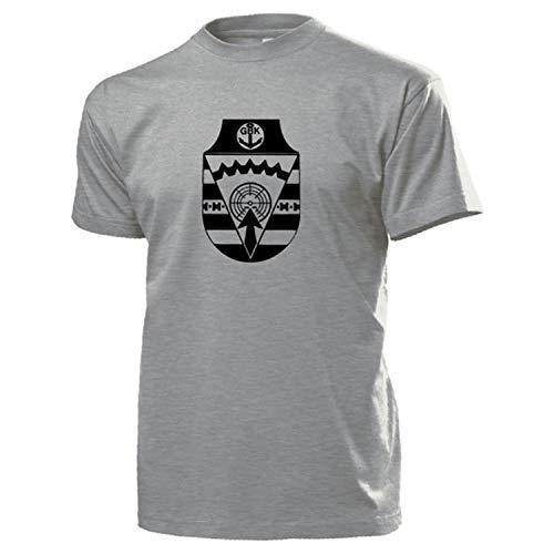 GBK Abzeichen Grenzbrigade Küste Wappen GBrK Grenztruppen DDR NVA T Shirt #17475, Größe:XXL, Farbe:Grau