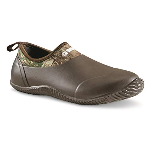 Guide Gear Low Bogger Men's Slip On Rubber Clogs, Garden, Yard Muck Shoes, Realtree Edge, 12D (Medium)