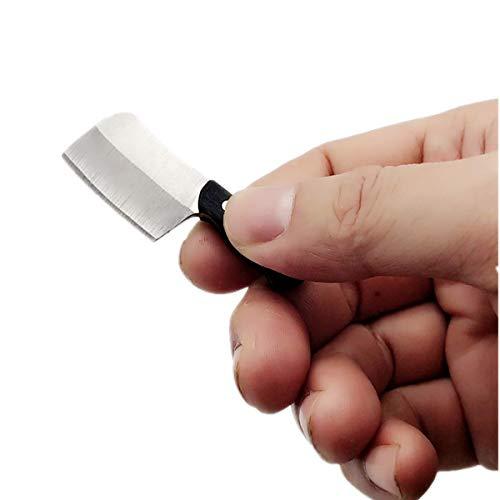 Kayard EDC Tool Mini Mes, Kleine Pocket Sleutelhanger Hals Blade Duim Chef Mes (1)