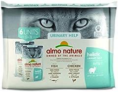 Almo Nature - Pack de Soporte urinario para Gatos (6 x 70 g)
