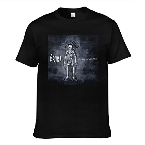Lakssn Uomo da per Gojira The-Way of all Flesh Logo Tee Shirts Cotone Camicia T Shirt Maniche Corte Black 3XL T-Shirt Maglietta Uomo