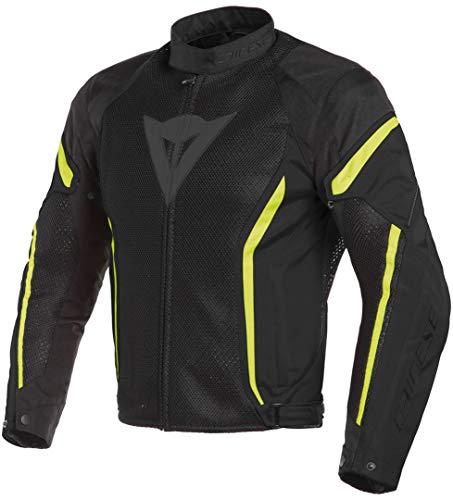 Dainese Air Crono 2 textil para moto chaqueta negro/negro/fluorescente amarillo