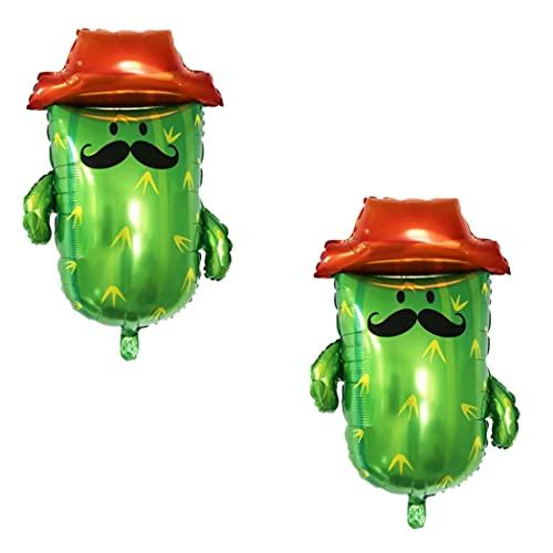 Normout Kaktus Luftballons - Ideal als Mexiko Deko oder Spanische Deko- Geburtstagsdeko Dekoration für Party, Fiesta Deko , Lama pinata oder Hawaii Party- Bunte,intensive Farben 86x78cm Spanien deko