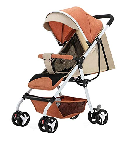 Check Out This ZOUSHUAIDEDIAN Adjustable Stroller, Standard Stroller, One-Step Fold, Full Size Front...
