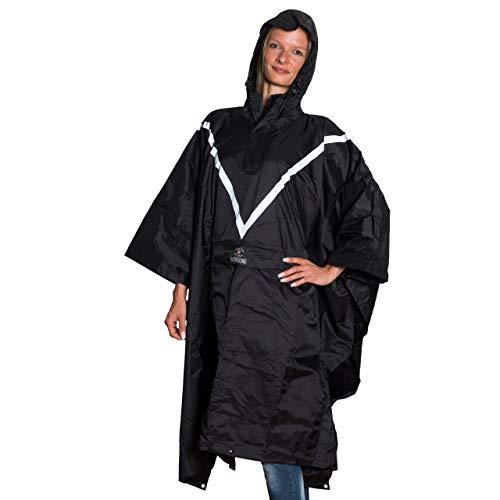 HERDE Regenponcho Premium Regencape für Damen und Herren Hochwertiger Rain Poncho aus Nylon und PU Beschichtung inkl. Tragetasche
