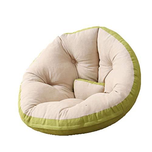 Wsaman Sillón plegable y acolchado suave y portátil, con funda de almacenamiento para silla de videojuegos con transformable extraíble para leer, juegos, ver televisión, verde, M