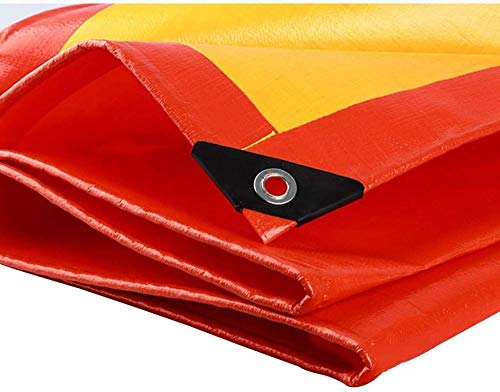 FFJD Camping Tarpaulin to Cover the Sun and Rain PE Tarpaulin Tear Resistant Aging Resistant Antistatic-6m×8m