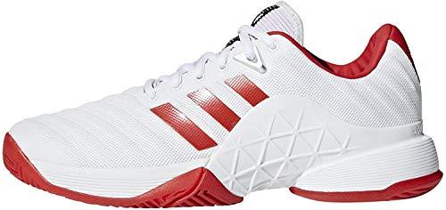 Adidas Barricade 2018 W, Zapatillas de Tenis Mujer, Blanco (Ftwbla/Escarl 000), 36 2/3 EU
