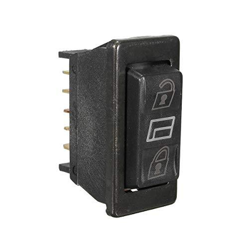 CROSYO 1set 3 en 1 5 Pines Universal Car DPDT Interruptor de la Ventana de Potencia momentánea del Interruptor de la Puerta de la Puerta de la Puerta