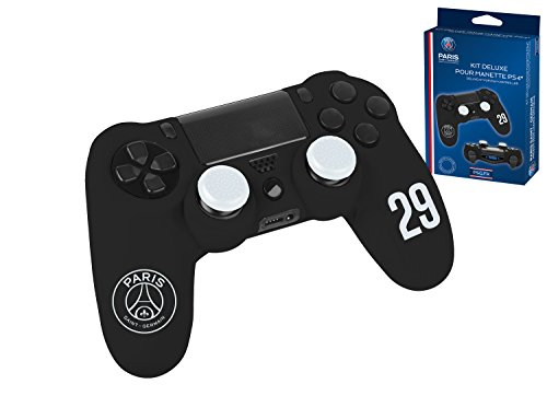 Accessoireset voor PS4-controller, beschermhoes van zacht zweetbestendig silicone en stickers voor lichtstrip