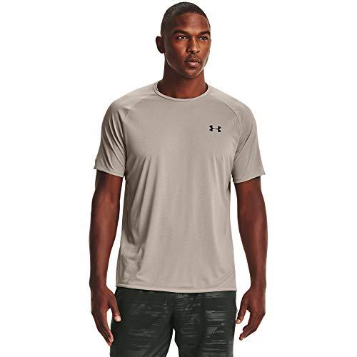 Under Armour Herren Tech 2.0 Novelty Short-Sleeve T-Shirt kurzärmelig, Highland Buff (200)/Schwarz, Medium