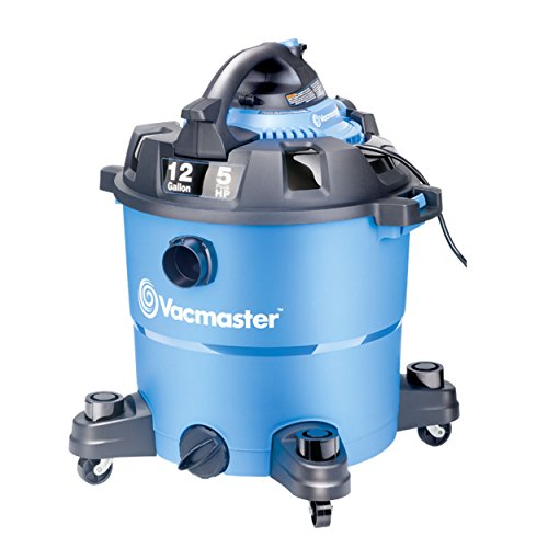 Vacmaster 12 Gallon, 5 Peak HP, Wet/Dry Vacuum with Detachable Blower, VBV1210 (Renewed)