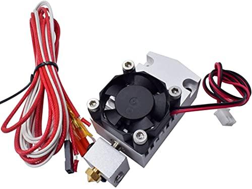 Impresora 3D Hot End 2 en 1 Salida Cabezal extrusor de Doble Color 12 V / 24 V 0,4 mm 1,75 mm con Ventilador de refrigeración Piezas de Impresora 3D Piezas de Impresora (Tamaño: 24 V 40 W no Oficial)