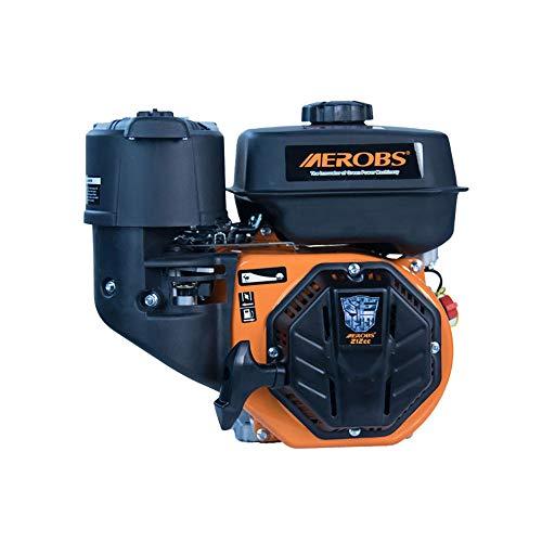 AEROBS Motor de gasolina 170F 7.5HP 212cc de 4 tiempos OHV de un solo cilindro aprobado por la CE