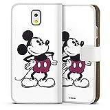 DeinDesign Étui Compatible avec Samsung Galaxy Note 3 Étui Folio Étui magnétique Mickey Produit...
