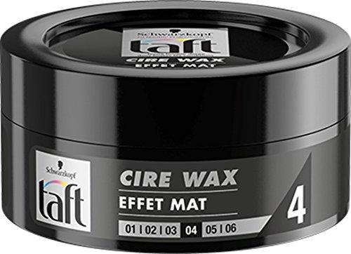 Schwarzkopf - Taft - Cire Wax - Cire Cheveux Homme - Effet Mat 4 - Fixation Forte - Longue Durée - Tenue 24h - Coiffant Cheveux - Pot de 75 ml