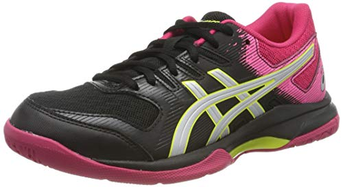 ASICS Gel-Rocket 9, Chaussures Multisport Indoor Femme, Noir (Black/Silver 002), 40.5 EU