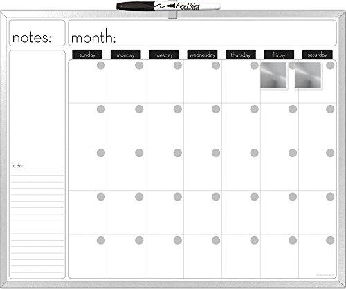 top 10 dry erase calendars Dudes dry erase calendar board aluminum frame 20×16