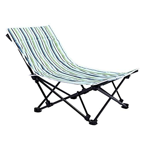 H-BEI Leichter, langlebiger Klappstuhl Low Sling Beach Chair, Beach Sling Chair Camping, Strand, Backpacking Outdoor Festivals mit Tragetasche