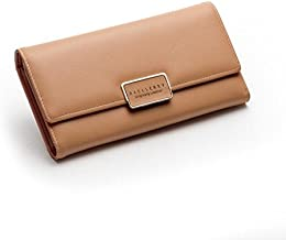 Lorna Imported Women Designer Wallet Golden/Shiny Grey/Golden Brown