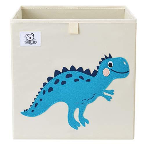 CLCROBD Foldable Animal Cube Storage Bins Fabric Toy Box/Chest/Organizer for Toddler/Kids Nursery, Playroom, 13 inch (Dino T-Rex)