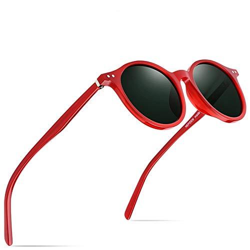 WWVAVA Sonnenbrillen Acetat polarisierte Sonnenbrille Männer 2019 Vintage Retro Runde Sonnenbrille für Frauen Brand Design Clear Transparent Sunglass, c3