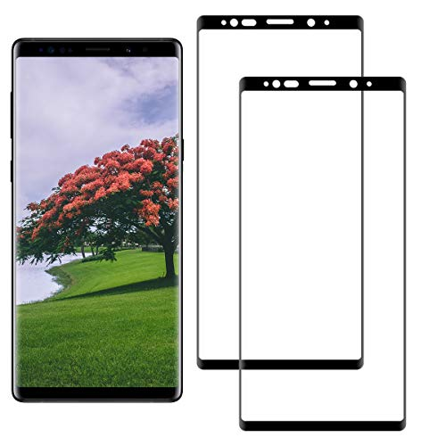 SNUNGPHIR Samsung Galaxy Note 9 Screen Protector, 2 Pack 3D Curved Full Screen Tempered Glass, 9H Hardness, Anti-Scratch, Bubble Free