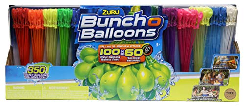 ZURU Bunch O Balloons, Fill in 60 Seconds, 350 Water Balloons, 20' Water Balloon Bowl Included