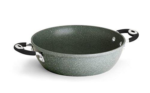 Bialetti Donatello Petravera Tegame, Alluminio, Adatto all\'induzione, 28 cm, Grigio