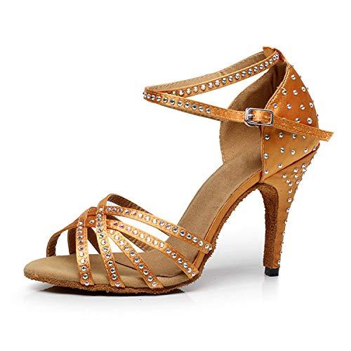 SUKUTU Zapatos de Baile Latino para Mujer Lentejuelas de Punta Cerrada Salsa Jazz Ballroom Party Zapatos de Boda