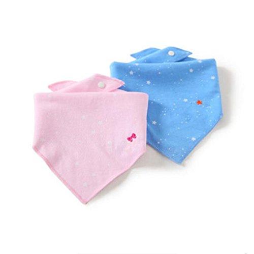 MXJ61 Triangle Serviette Coton Nouveau-Né Bavoirs Four Seasons Mâle Et Femelle Bébé 2 Pcs/Set (Couleur : E, Taille : 2 Set)