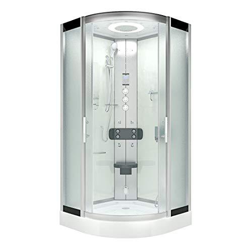 AcquaVapore DTP8046-6013 Dusche Dampfdusche Duschtempel Duschkabine -Th. 100 XL JA mit 2K Scheiben Versiegelung