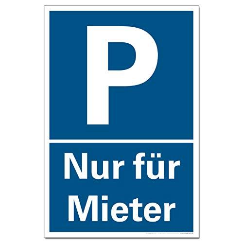 Parkplatzschild Nur Mieter Halteverbot Verkehrszeichen Schild Parken Hinweis