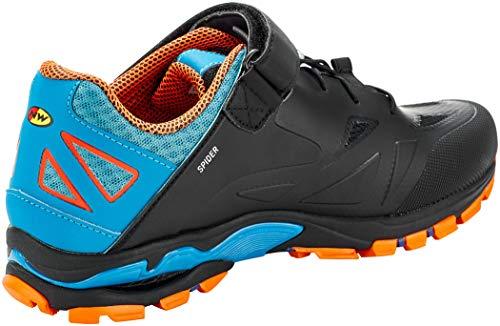 Northwave Spider 2 2020 - Zapatillas para Bicicleta de montaña, Color Negro, Azul y Naranja, Hombre, Negro/Azul/Naranja, 43