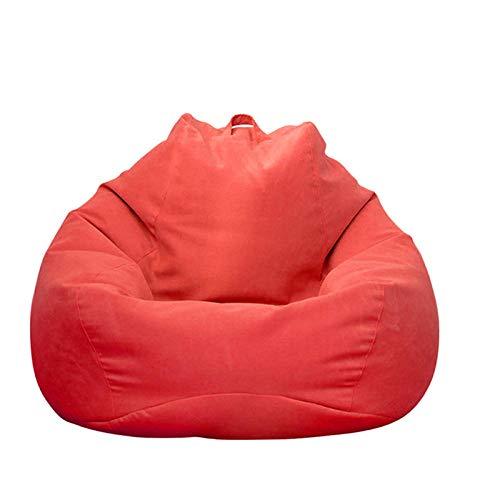 Tutte Le Dimensioni Lazy Bean Bag Divano Interno Copertura Della Borsa Classic Chair Sofa Cover Adults And Kids Not Include Filler 1Pz-Rosso-S - 70X80Cm