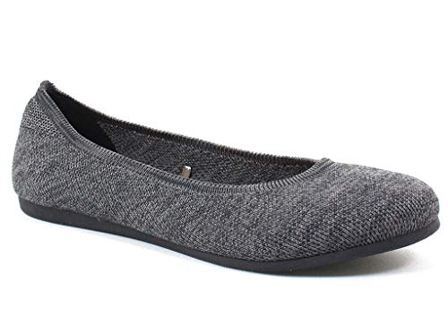 Jellypop Women's Apex Charcoal Fabricflats-Shoes 6.5 B(M) US