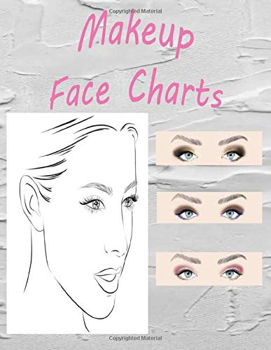 Paper for Makeup Face Charts: Makeup Artist Drawing Coloring Face Charts Large Notebook