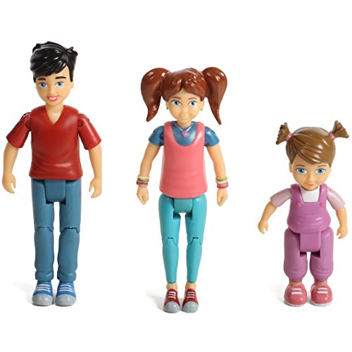 Beverly Hills Sweet Lil Family Dollhouse People Set of 3 Action Figure Set: Boy, Girl, and Toddler