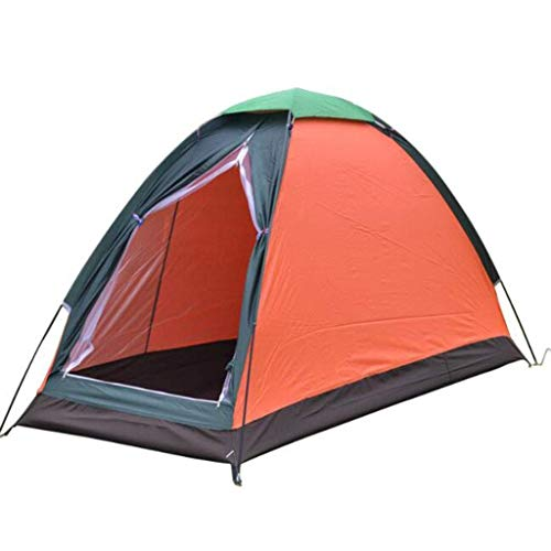 LHQ-HQ Cabin Tent,Compact Single 1 Person Tent,Tent For Backpacking,Portable Sun Shelter With Carrying Bag,for Family Camping Hiking(orange) Automatic Camping Tent