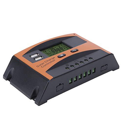 BALITY Controlador De Carga Solar 20A, Regulador Inteligente De Batería 12V / 24V Controlador De Carga PWM De Alto Rendimiento para Energía Renovable
