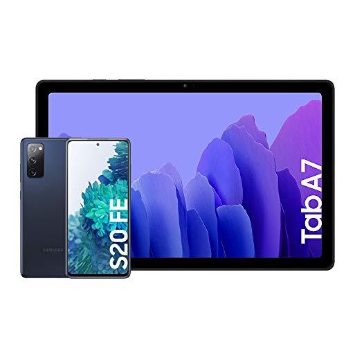"""Samsung Galaxy S20 FE 4G - 128 GB, Color Azul [Versión española] + Samsung Galaxy Tab A 7 [Tablet de 10.4"""" FullHD]"""