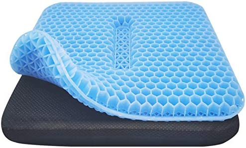 Double Sided Gel Seat Cushion Breathable with Non Slip Cover for Pressure Relief Double Layer product image