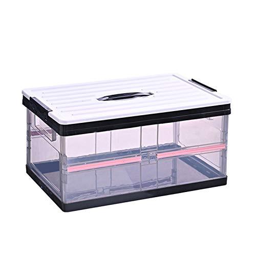 Halllo Caja de almacenamiento plegable de plástico resistente para dormitorio, oficina